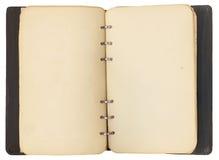 Ouvrez le cahier antique Photo libre de droits