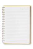 Ouvrez le cahier orange Image stock