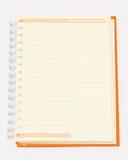 Ouvrez le cahier orange Images libres de droits