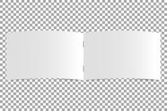 Ouvrez le calibre vide de magazine sur le fond transparent Catalogue horizontal, livre Livret de maquette Vecteur illustration libre de droits