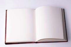 Ouvrez le carnet de papier blanc Photographie stock libre de droits