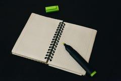 Ouvrez le carnet pour le travail Photographie stock libre de droits