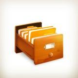Ouvrez le catalogue sur fiches illustration de vecteur