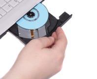 Ouvrez le CD-gestionnaire Photo libre de droits