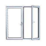 Ouvrez le châssis de fenêtre en plastique Photo stock