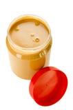 Ouvrez le choc de beurre d'arachide Images stock