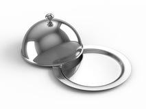 Ouvrez le cloche de restaurant Image libre de droits