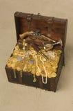 Ouvrez le coffre de trésor Photo stock