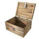 Ouvrez le coffre en bois illustration stock