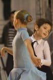 Ouvrez le concours latin de danse, 6 - 9 ans Photo libre de droits