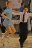 Ouvrez le concours latin de danse, 6 - 9 ans Photographie stock