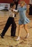Ouvrez le concours latin de danse, 6 - 9 ans Photo stock