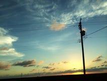 Ouvrez le coucher du soleil Images libres de droits