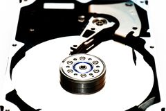Ouvrez le disque dur photos libres de droits