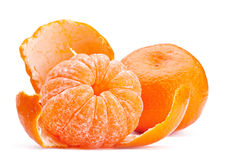 Ouvrez le fruit de mandarine photos stock