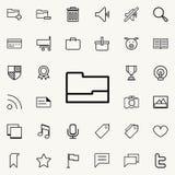 Ouvrez le graphisme de dépliant Ensemble détaillé d'icônes minimalistic Conception graphique de la meilleure qualité Une des icôn Illustration Stock