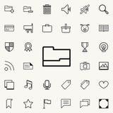 Ouvrez le graphisme de dépliant Ensemble détaillé d'icônes minimalistic Conception graphique de la meilleure qualité Une des icôn Illustration Libre de Droits