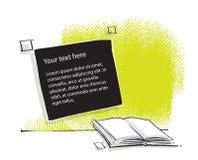 Ouvrez le graphisme de livre, conception stylized, retrait de dessin à main levée Illustration Libre de Droits