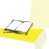 Ouvrez le graphisme de livre, ligne calligraphique à main levée Illustration Stock
