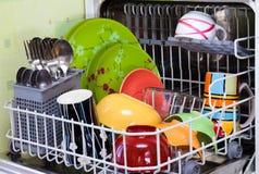 Ouvrez le lave-vaisselle Images libres de droits