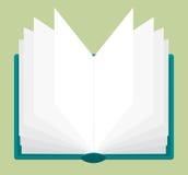Ouvrez le livre avec des pages étant passées en revue Illustration Stock