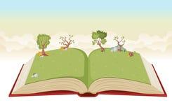 Ouvrez le livre avec le parc vert illustration stock