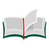 Ouvrez le livre avec les pages blanc illustration de vecteur