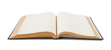 Ouvrez le livre d'isolement sur le blanc images stock