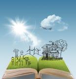 Ouvrez le livre de l'histoire de famille illustration libre de droits
