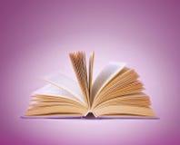 Ouvrez le livre sur un fond abstrait Photographie stock
