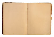 Ouvrez le livre utilisé photo stock