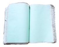 Ouvrez le livre vide Photographie stock