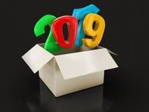 Ouvrez le paquet avec 2019 illustration libre de droits