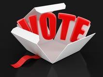 Ouvrez le paquet avec le vote Image libre de droits
