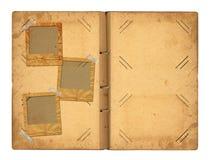 Ouvrez le photoalbum de vintage pour des photos Photographie stock libre de droits
