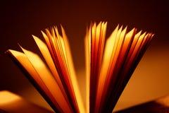 Ouvrez le plan rapproché de livre Photos libres de droits