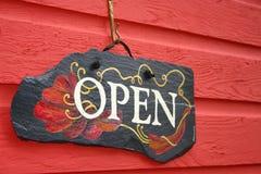 Ouvrez le signe Photo libre de droits