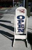 Ouvrez le signe Photographie stock