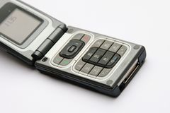 Ouvrez le téléphone portable photo stock