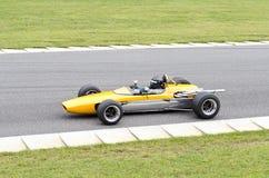 Ouvrez le type voiture de formule de roue de course Image libre de droits