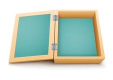 Ouvrez le vecteur de boîte en bois Image libre de droits