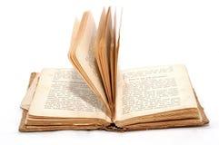 Ouvrez le vieux livre Photos stock