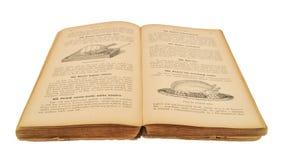 Ouvrez le vieux livre de cuisine Photographie stock libre de droits