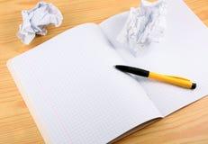 Ouvrez le writingbook Photos libres de droits