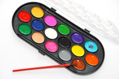 Ouvrez les bidons de peinture Image stock