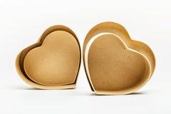 Ouvrez les boîte-cadeau en forme de coeur Image stock