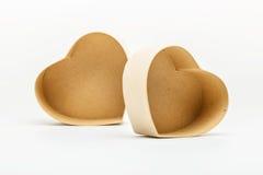 Ouvrez les boîte-cadeau en forme de coeur pour le jour de valentines Photographie stock libre de droits