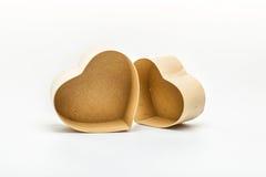 Ouvrez les boîte-cadeau en forme de coeur pour le jour de valentines Photo stock