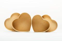 Ouvrez les boîte-cadeau en forme de coeur pour le jour de valentines Photos libres de droits