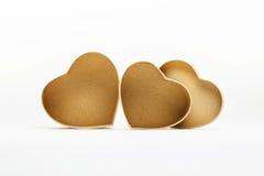 Ouvrez les boîte-cadeau en forme de coeur pour le jour de valentines Images stock